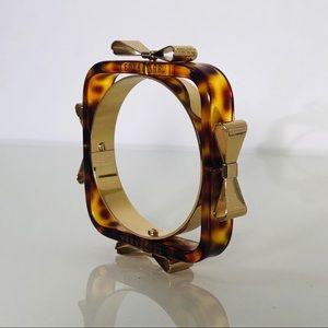 TED BAKER Tortoise Shell Bow Bracelet